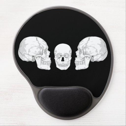 Trío del cráneo alfombrillas con gel