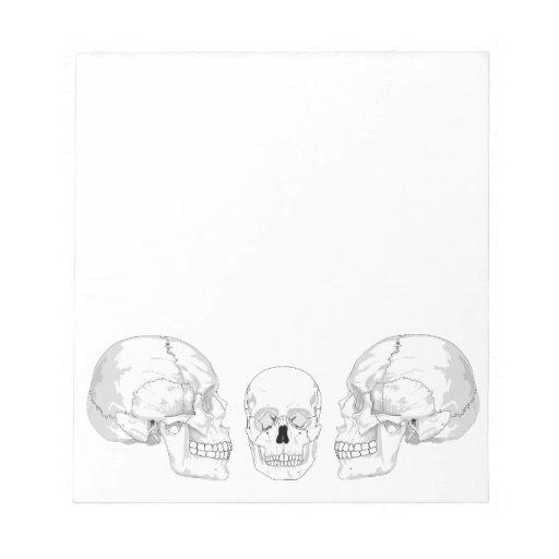Trío del cráneo bloc de notas