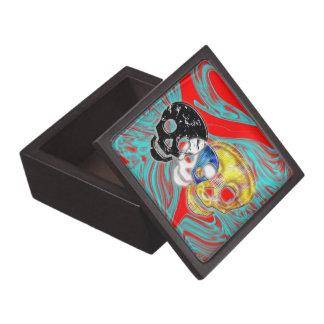 Trío del cráneo caja de joyas de calidad