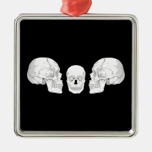 Trío del cráneo ornamentos de navidad