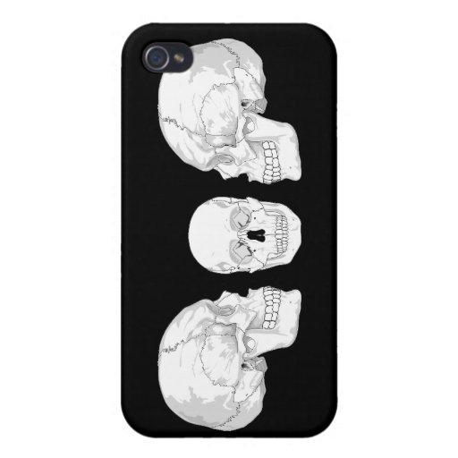 Trío del cráneo iPhone 4 carcasas