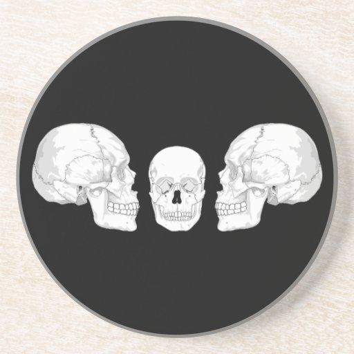 Trío del cráneo posavasos personalizados