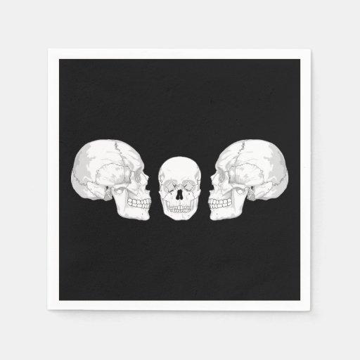 Trío del cráneo servilletas de papel