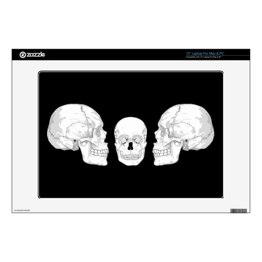 Trío del cráneo skins para 33cm portátil