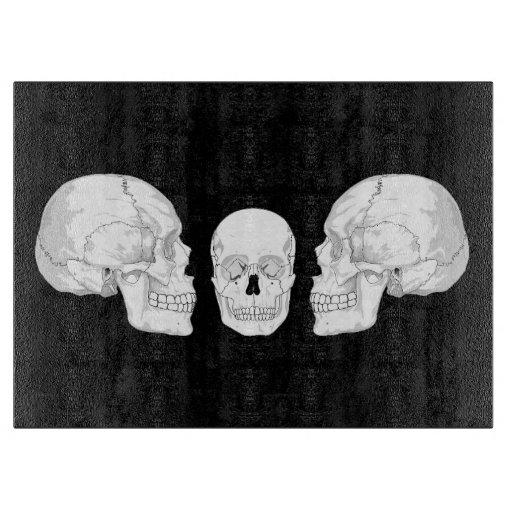 Trío del cráneo tablas para cortar