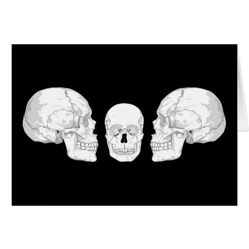 Trío del cráneo felicitación