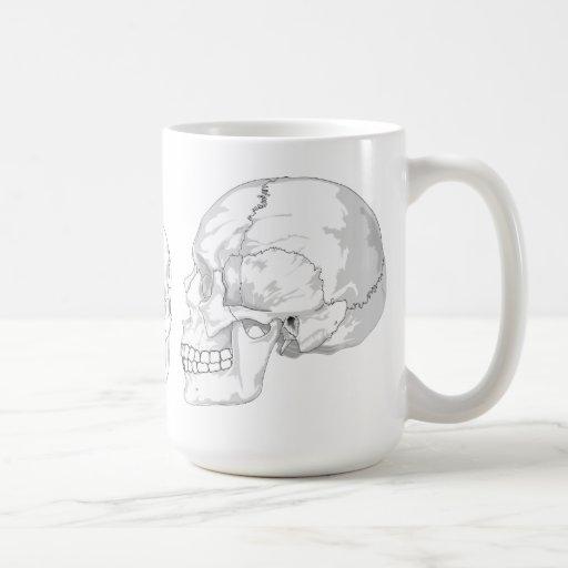 Trío del cráneo taza de café
