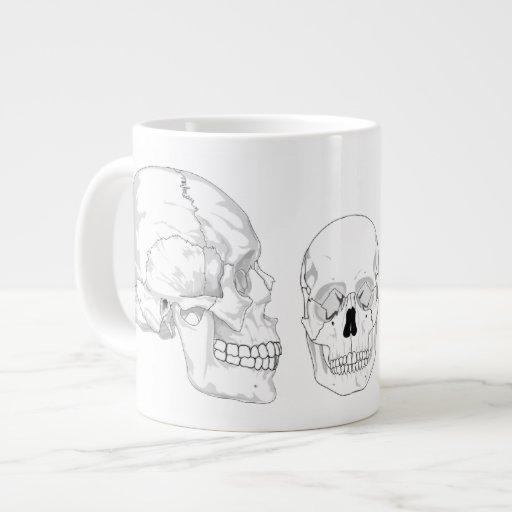 Trío del cráneo tazas jumbo