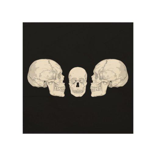 Trío del cráneo cuadro de madera