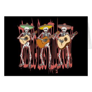 Trío del esqueleto del Mariachi Tarjeta De Felicitación
