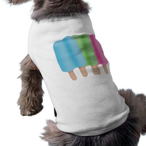 Trío del estallido del hielo playera sin mangas para perro