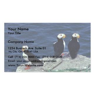 Trío del frailecillo de cuernos tarjetas de visita