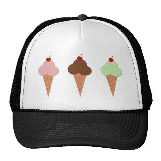 Trío del helado gorros