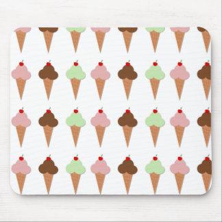 Trío del helado tapetes de raton