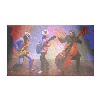 Trío del jazz impresion de lienzo