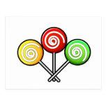 Trío del Lollipop Tarjeta Postal