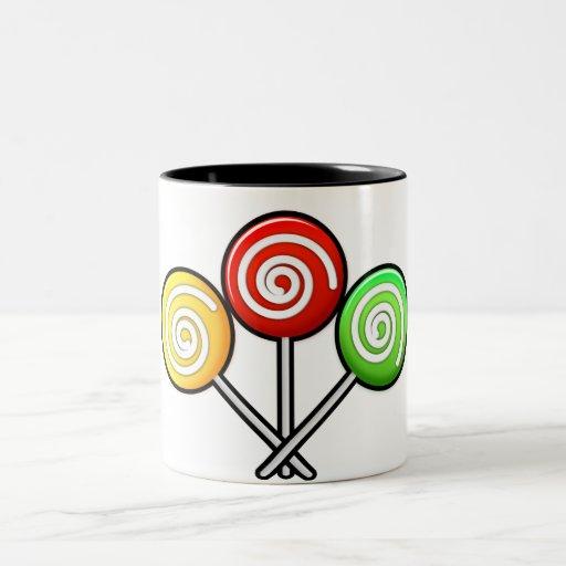 Trío del Lollipop Taza De Café