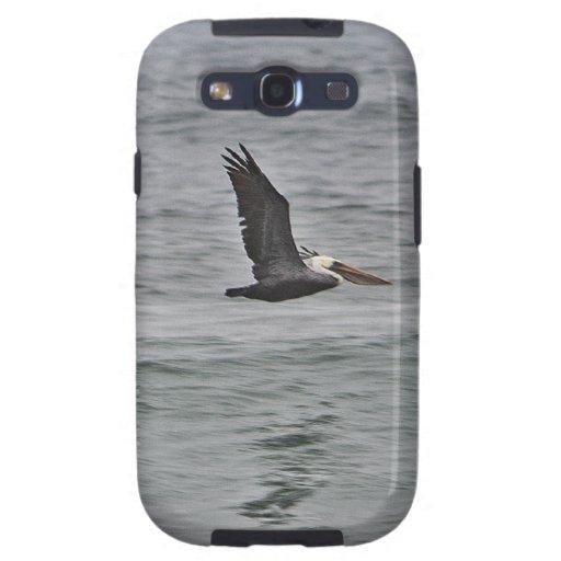 Trío del pelícano en la playa de Horsfall, Oregon Samsung Galaxy S3 Cárcasa