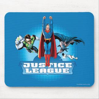 Trío del poder de la liga de justicia alfombrillas de raton