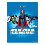 Trío del poder de la liga de justicia tarjetas postales