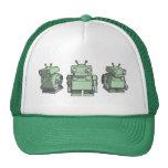 Trío del robot gorras de camionero