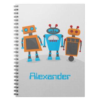 Trío del robot libro de apuntes
