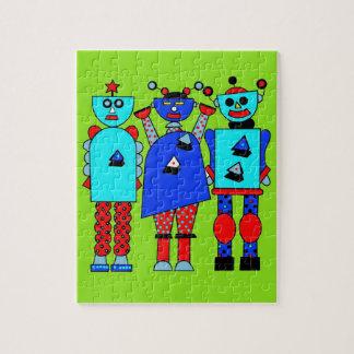 Trío del robot puzzles con fotos