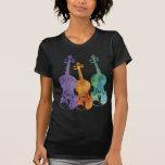 Trío del violín camisetas