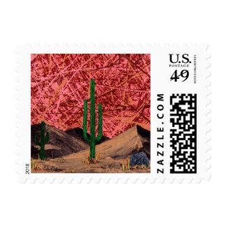 Trio (desert cactus - cacti landscape) ~.jpg postage stamp