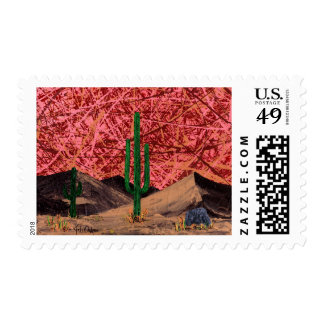 Trio (desert cactus - cacti landscape scenic) postage