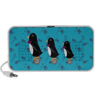 Trío en la rueda - doodle del pingüino iPod altavoces
