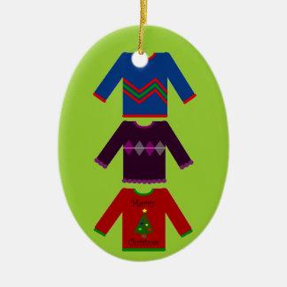Trío feo del suéter del navidad ornamentos de reyes