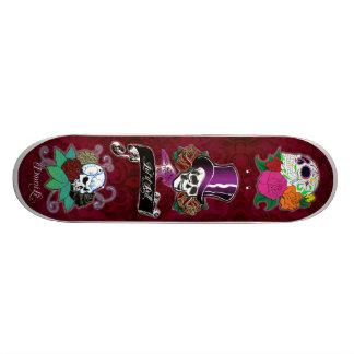 Trío fresco del cráneo skate boards
