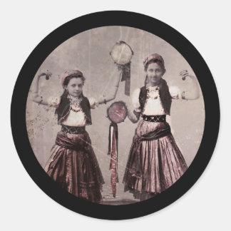 Trio Gypsy Children Classic Round Sticker