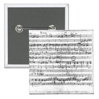 Trio, in E flat major 'Kegelstatt' Pinback Button
