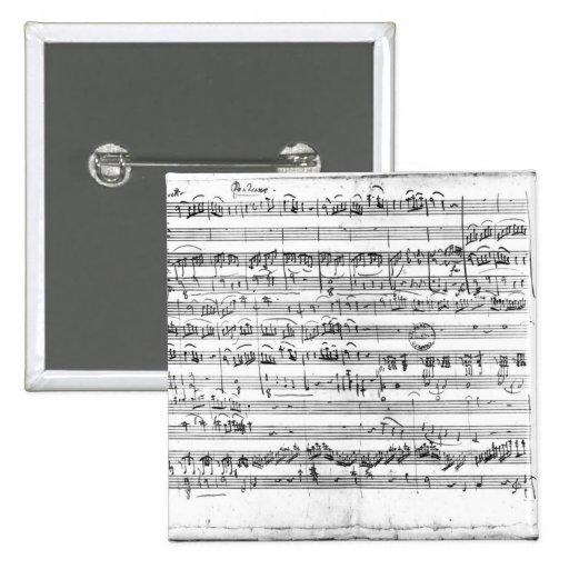 Trio, in E flat major 'Kegelstatt' 2 Inch Square Button