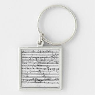 Trio, in E flat major 'Kegelstatt' Keychain