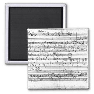 Trio, in E flat major 'Kegelstatt' Fridge Magnets