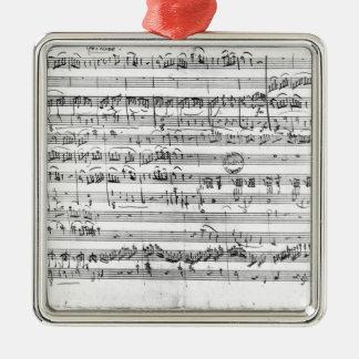 Trio, in E flat major 'Kegelstatt' Metal Ornament