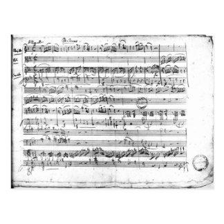 Trio, in E flat major 'Kegelstatt' Postcard
