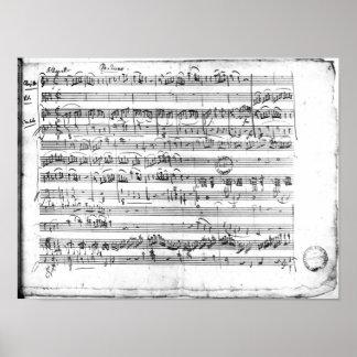 Trio, in E flat major 'Kegelstatt' Poster