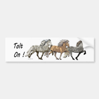 Trio in Tolt Bumper Sticker