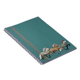 Trio in Tolt Spiral Notebook