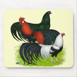 trío Largo-atado del gallo Tapete De Ratón