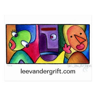 Trio, leevandergrift.com postcards