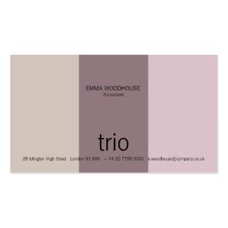 Trio Lilac & Mauve Business Card Templates