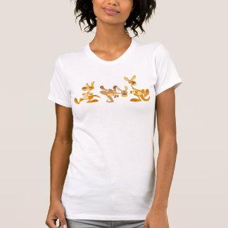 Trío lindo de la camiseta de las mujeres de playeras