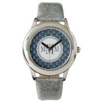 Trio Monogram Anchor Pattern Watches