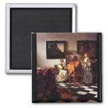 Trío musical de Juan Vermeer Iman Para Frigorífico