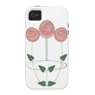Trio of Art Nouveau Roses in Shades of Pink Case-Mate iPhone 4 Case